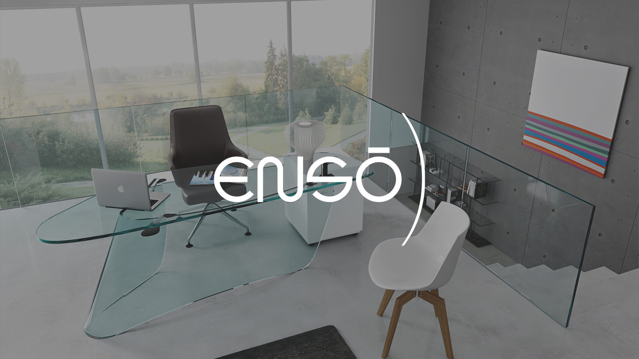 Enso Glass Identity <br> Social Media and Web Design